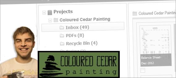 LedgerDocs Case Study Coloured Cedar Painting